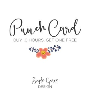 Simple Grace Design, Punch Card Membership